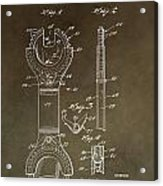 Open End Ratchet Wrench Patent Acrylic Print