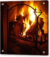 Open Fire Acrylic Print
