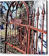 Open Gate Acrylic Print by Kelly Kitchens