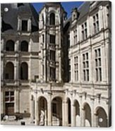 Open Staircase Chateau Chambord - France Acrylic Print