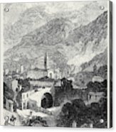 Opening Of The Mont Cenis Tunnel The Town Of Susa 1871 Acrylic Print