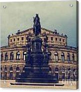 Opera House In Dresden Acrylic Print by Jelena Jovanovic