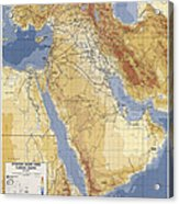 Operation Desert Storm Planning Map  1991 Acrylic Print