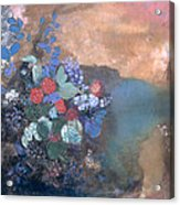 Ophelia Among The Flowers Acrylic Print by Odilon Redon