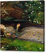 Ophelia  Acrylic Print by John Everett Millais