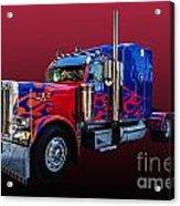 Optimus Prime Red Acrylic Print
