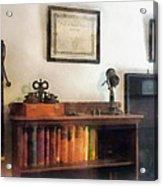 Optometrist - Eye Doctor's Office With Diploma Acrylic Print