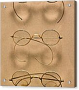 Optometrist - Simple Gold Frames Acrylic Print