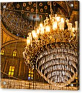 Opulent Interior Of The Alabaster Mosque In Cairo Acrylic Print