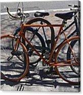 Orange And Blue Bikes Acrylic Print