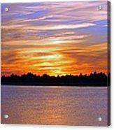 Orange And Blue Sunset Acrylic Print