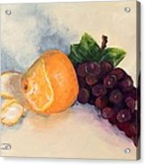 Orange And Grapes Acrylic Print