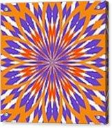 Orange And Purple Kaleidoscope Acrylic Print