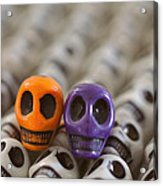 Orange And Purple Acrylic Print