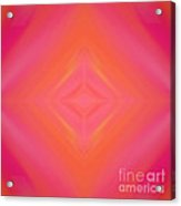 Orange And Raspberry Sorbet Abstract 4 Acrylic Print by Andee Design
