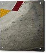 Orange Avenue Curb Cut Coronado California Acrylic Print