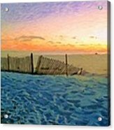 Orange Beach Sunset - The Waning Of The Day Acrylic Print