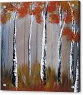Orange Birch One Piece Acrylic Print