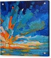 Orange Blue Sunset Landscape Acrylic Print by Patricia Awapara