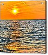 Orange Burn Acrylic Print