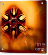 Orange Burst Abstract Acrylic Print