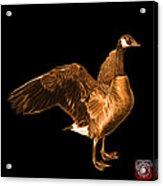 Orange Canada Goose Pop Art - 7585 - Bb  Acrylic Print
