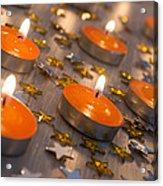 Orange Candles Acrylic Print