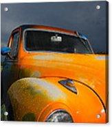 Orange Car Acrylic Print