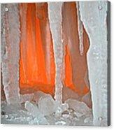 Orange Cave Acrylic Print