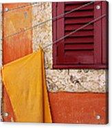 Orange Cloth  Acrylic Print