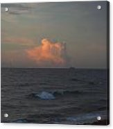 Orange Cloud Pops Out Of The Ocean Acrylic Print