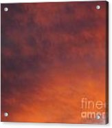 Orange Clouds At Sunset Acrylic Print