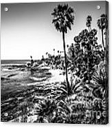 Orange County California In Black And White Acrylic Print