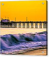 Orange County Panoramic Sunset Picture Acrylic Print