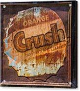Orange Crush Sign Acrylic Print