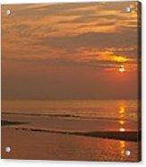 Orange Dawn At Hunting Island State Park Acrylic Print