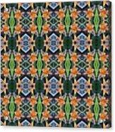 Orange Day Lily Design Acrylic Print
