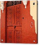 Orange Doors Acrylic Print