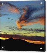 Orange Dragon Sunset Acrylic Print