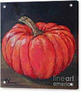 Orange Fairytale Pumpkin Acrylic Print