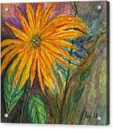 Orange Flower Acrylic Print by Anais DelaVega