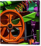 Orange Gear Acrylic Print by Garry Gay
