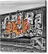 Orange Graffiti Acrylic Print