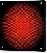 Optical Illusion - Orange On Black Acrylic Print