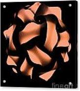 Orange Honeycomb Acrylic Print