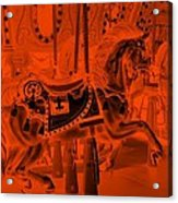 Orange Horse Acrylic Print