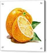 Orange Acrylic Print by Irina Sztukowski