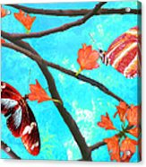 Orange Leaves Acrylic Print