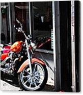 Orange Motorcycle Acrylic Print