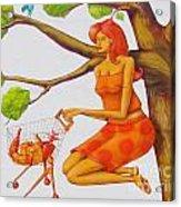 Orange Olga Acrylic Print